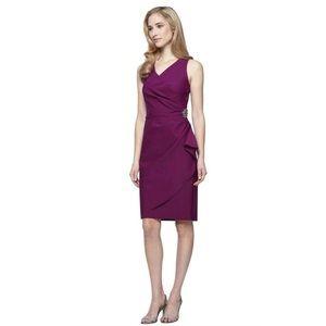 NEW ALEX EVENINGS Faux Wrap Jewel Cocktail Dress